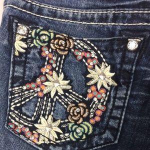 Miss Me ignature Skinny Flower Jeans